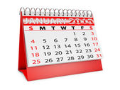 Kalender für januar — Stockfoto