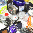 Stock Photo: Pile of various wrist watches
