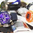 Pile of various wrist watches — ストック写真