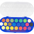 New watercolor box with brush — Stock Photo