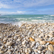 Stony beach in Espichel Cape, Portugal — Stock Photo