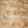 Old stone wall made with irregular blocks. — Stock Photo