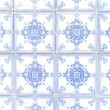 Typical white and blue portuguese ceramic tiles called Azulejos — Stock Photo #13313064