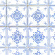 Stock Photo: Typical white and blue portuguese ceramic tiles called Azulejos