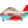 Stockfoto: Old, rusty tin toy. Jumbo Jet.