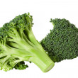 Nutritious broccoli sheaf isolated on white background — Stock Photo