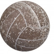 Stock Photo: Old soccer ball in very bad shape.