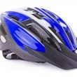 Bicycle helmet isolated on a white background - Stock Photo
