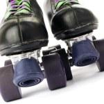 Retro roller skates isolated on white background — Stock Photo