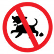 No dog poop sign — Stock Photo #13318111