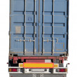 European flatbed 18-wheeler with metal container — Stock Photo