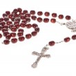 Rosary beads isolated over a white background — Stock Photo #13318789