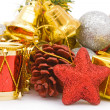 Background made of various ornament for the Christmas — Stockfoto