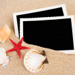 Pictures in a beach concept. Vacation memories. — Stock Photo