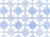 Typical white and blue portuguese ceramic tiles called Azulejos — Stock Photo