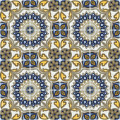 Ceramic tiles seamless pattern — Stock Photo