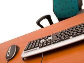 Concepto de oficina con elementos informáticos — Foto de Stock