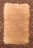 Armazón hecho de granos de café — Foto de Stock