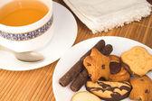Tazza di tè e biscotti — Foto Stock