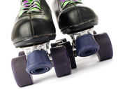 Retro roller skates isolated on white background — Stock Photo