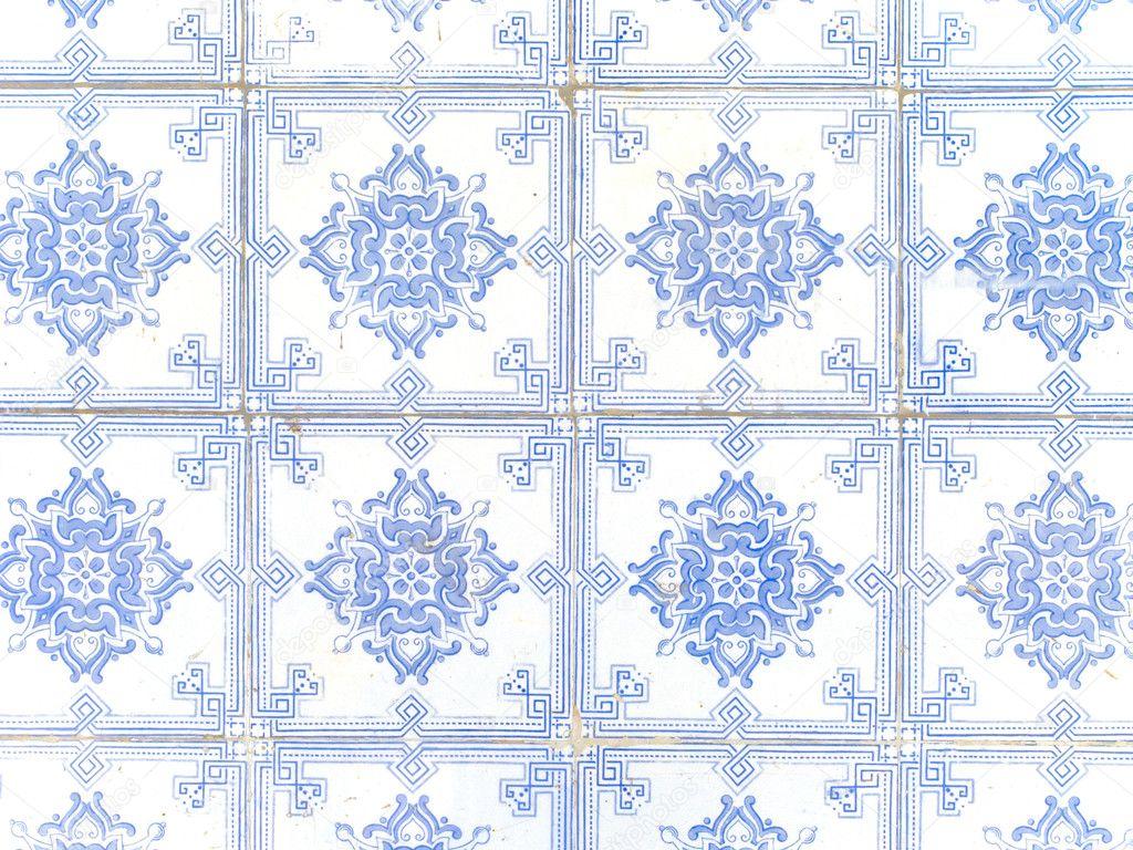 Azulejos de cer mica portuguesa blanco y azul t pico for Azulejos de ceramica