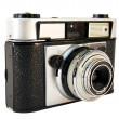 Stock Photo: Rear view of vintage film camera