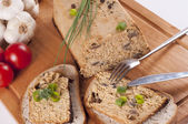 Sandwiches with homemade pate — Stock Photo