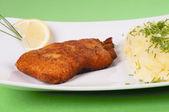Salmon fish with potatoes — Stock Photo
