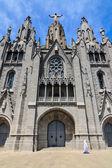 Sagrado corazón de la iglesia templo de sagrat cor de barcelona — Foto de Stock
