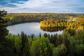 Uitzicht op het meer in finland — Stockfoto