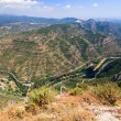Valley at Montserrat Mountains — Stock Photo