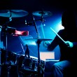 Drummer on a gig — Stock Photo