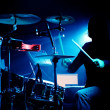 Drummer on gig — Stock Photo #24221137