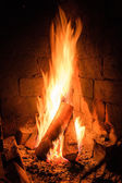 Fireplace Flames — Stock Photo