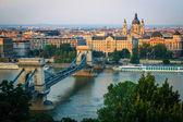 在布达佩斯的日落 — 图库照片