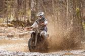 Motocross Dirt Driver — Stock Photo