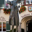 Mozart statue in St. Gilgen, Austria — Stock Photo