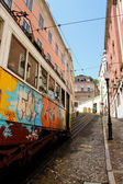 Funicular in Lisbon, Portugal — Stock Photo