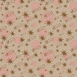 Cinnamon and anise vector seamless pattern - Imagen vectorial