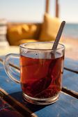 Bedouin tea in a beach cafe — Stock Photo