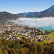 View of St. Gilgen, Wolfgangsee and mountains — Stock Photo #13591019