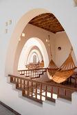 Hotel terraces with hammocks — Stock Photo
