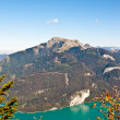 Wolfgangsee lake and Schafberg mountain — Stock Photo