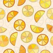 Citrus vector seamless pattern — Stock Vector