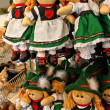Souvenir dolls wearing  austrian traditional costume — Stock Photo