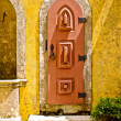 Door in Pena palace, Portugal - Stock Photo