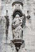 Fragmento da catedral de saint mary de girona — Foto Stock
