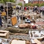 ������, ������: Brussels Belgium May 22 choose things on a flea mark