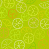 Citrus outline seamless pattern — Stock Vector