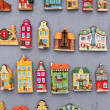 Model houses magnets on display in Gdansk, Poland — Stock Photo